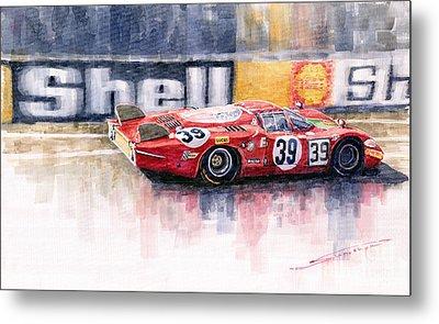 Alfa Romeo T33 B2 Le Mans 24 1968 Galli Giunti Metal Print