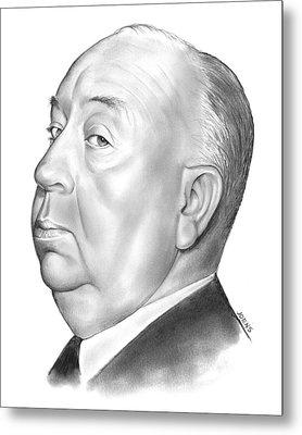 Alfred Hitchcock Metal Print by Greg Joens