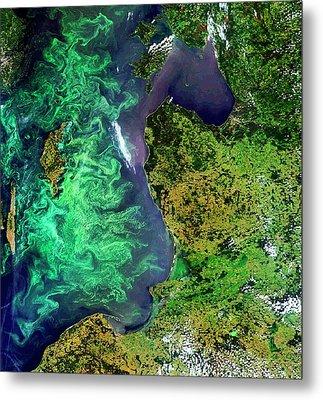 Algal Blooms Metal Print by European Space Agency