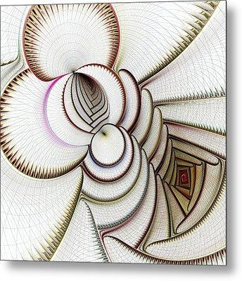 Algorithmic Art Metal Print