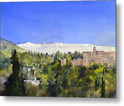 Alhambra Granada Metal Print by Margaret Merry