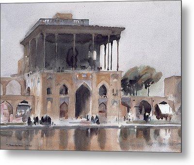 Ali Qapu Palace, Isfahan, 1994 Wc On Paper Metal Print
