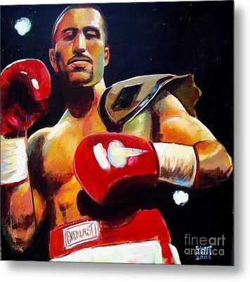 Metal Print featuring the painting Ali Tareh by Robert Phelps