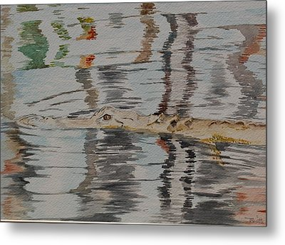 Ali The Alligator Metal Print