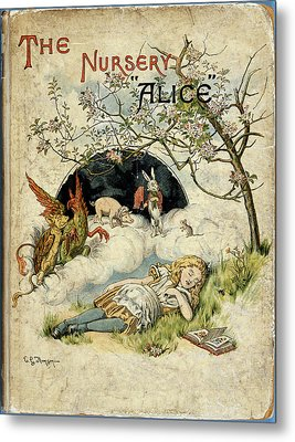 Alice Asleep Metal Print
