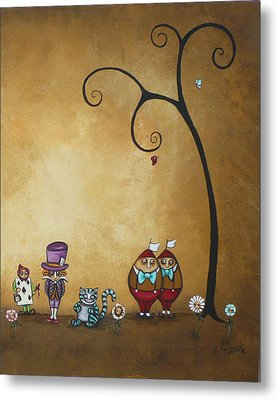 Alice In Wonderland Art - Encore - II Metal Print by Charlene Zatloukal
