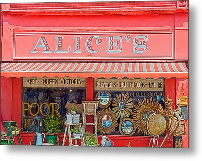 Alice's Antiques Metal Print by Georgia Fowler