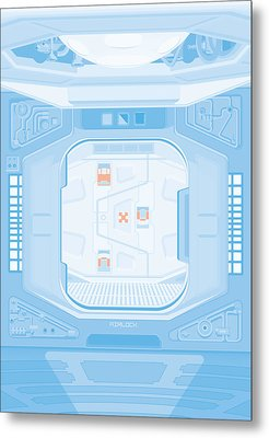 Alien 1979 Poster - Airlock Metal Print by Peter Cassidy