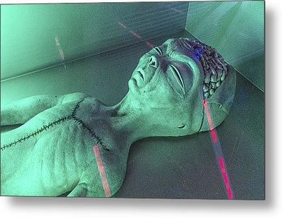 Alien Autopsy Metal Print by Gary Warnimont