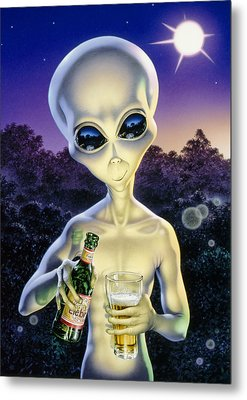 Alien Brew Metal Print