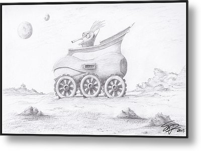 Alien Buggy Metal Print by Steven Powers SMP