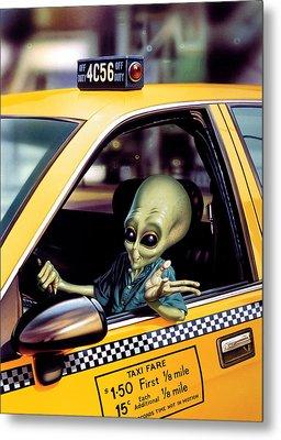 Alien Cab Metal Print by Steve Read