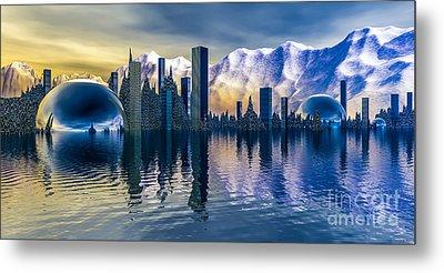 Alien Cityscape  Metal Print