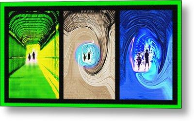 Alien Encounters Triptych Metal Print by Steve Ohlsen
