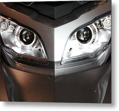 Alien Headlights  Can Am Spyder Motorcycle Metal Print