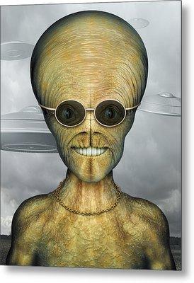 Alien Metal Print by James Larkin