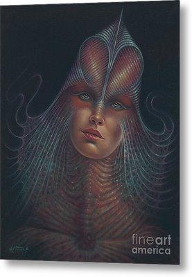 Alien Portrait Il Metal Print by Ricardo Chavez-Mendez
