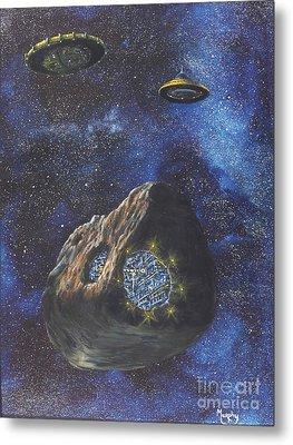 Alien Space Factory Metal Print by Murphy Elliott