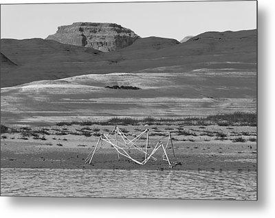 Alien Wreckage Bw - Lake Powell Metal Print by Julie Niemela