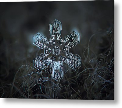 Metal Print featuring the photograph Snowflake Photo - Alioth by Alexey Kljatov
