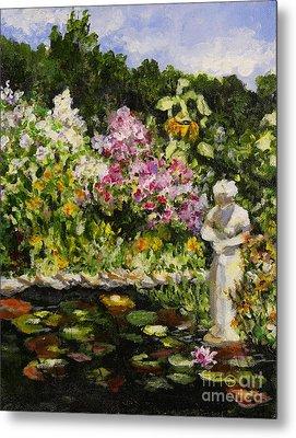 Alisons Water Garden Metal Print