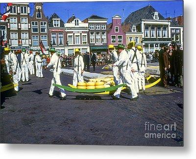 Alkmaar Cheese Market Metal Print