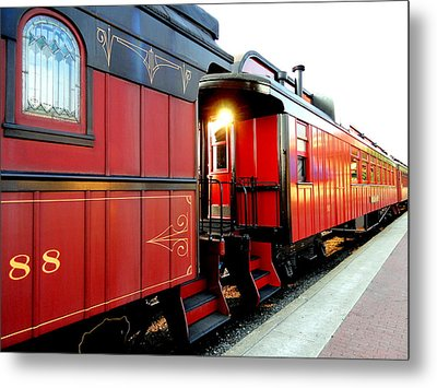 All Aboard Metal Print by Mary Beth Landis