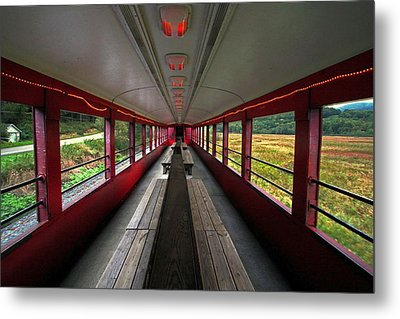 Metal Print featuring the photograph All Aboard Tioga Central Railroad by Suzanne Stout