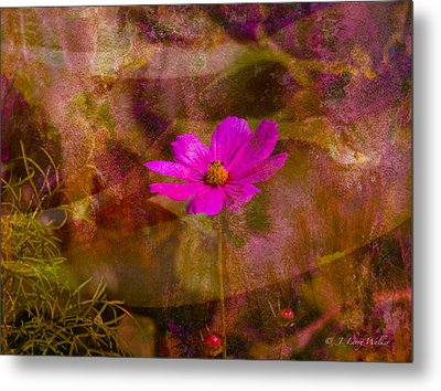 Metal Print featuring the digital art All Alone by J Larry Walker
