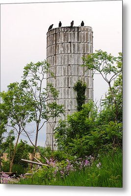 All Along The Silo Metal Print