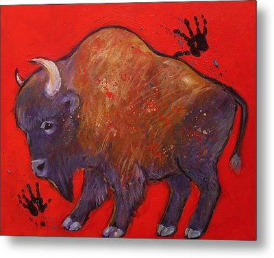 All American Buffalo Metal Print