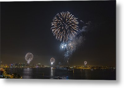 All At Once San Diego Fireworks Metal Print