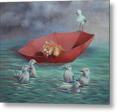 Metal Print featuring the painting All At Sea by Cynthia House