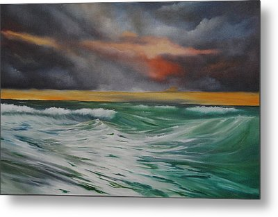 All At Sea Metal Print