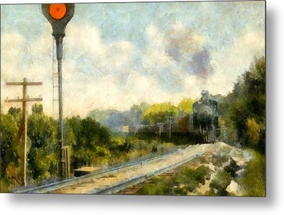 All Clear On The Pere Marquette Railway  Metal Print by Michelle Calkins