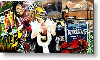 All Hail New Orleans Metal Print by Alonzo Butler