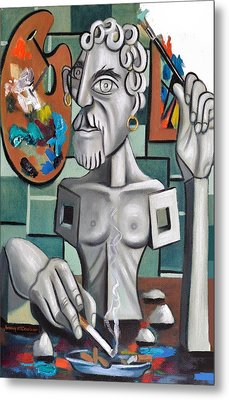 All In A Days Work Self Portrait Metal Print by Anthony Falbo