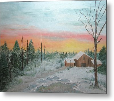 All Is Calm All Is Bright Metal Print by Nancy Craig
