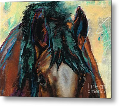 All Knowing Metal Print by Frances Marino