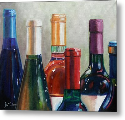 All Lined Up Metal Print by Donna Tuten