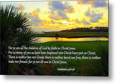 All One In Christ Jesus Metal Print