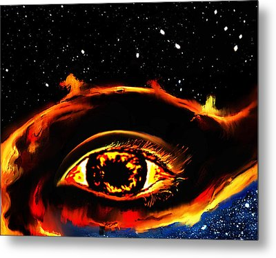 Metal Print featuring the painting All Seeing Eye by Persephone Artworks