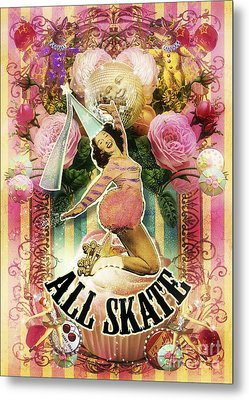 All Skate Metal Print by Aimee Stewart