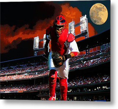 All Star Yadier Molina Metal Print by John Freidenberg
