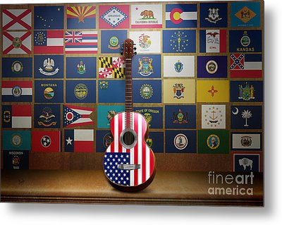 All State Flags Metal Print by Bedros Awak