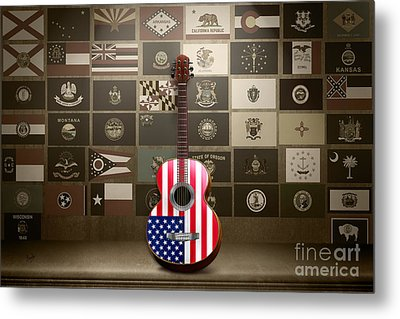All State Flags - Retro Style Metal Print by Bedros Awak
