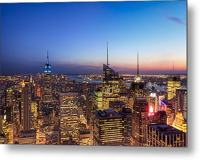 All That Glitters Is Gold - New York City Skyline Metal Print by Mark E Tisdale