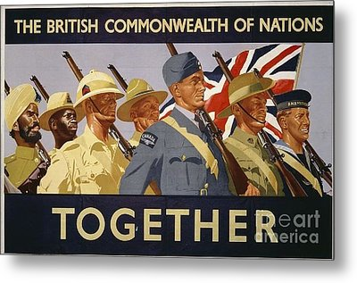 All The Commonwealth Countries Unite. Metal Print by Paul Fearn