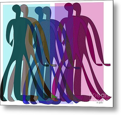 Metal Print featuring the digital art All The World's A Stage.... by Iris Gelbart