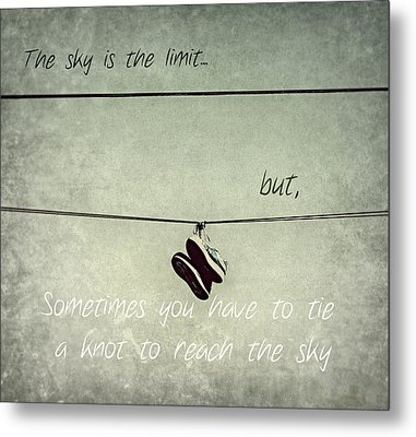 Metal Print featuring the photograph All Tied Up Inspirational by Melanie Lankford Photography